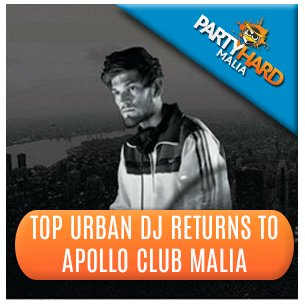 Top Urban DJ Returns to Apollo Club Malia
